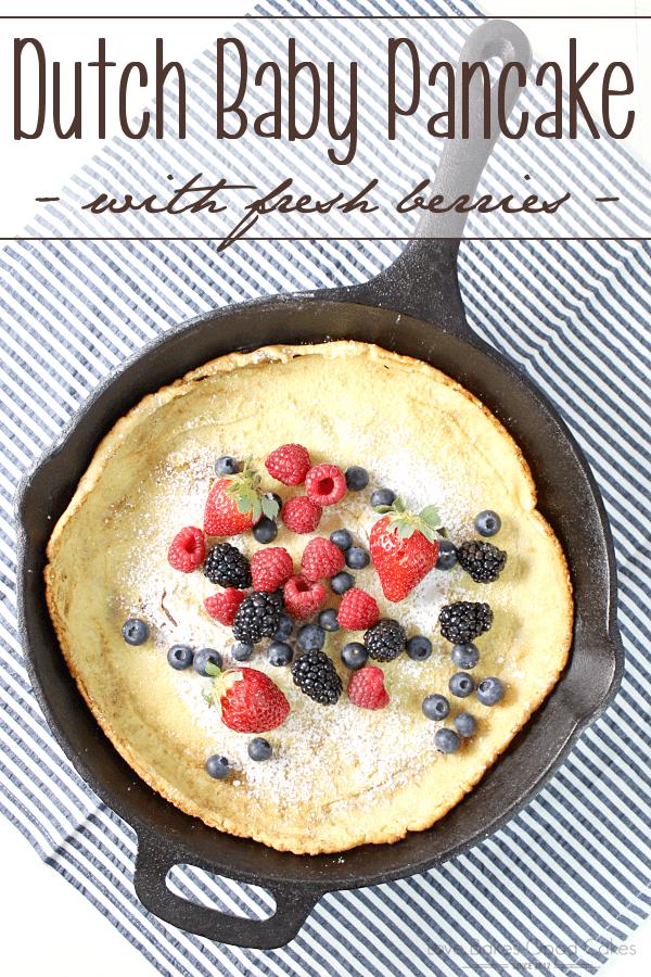 Dutch Baby Pancake with Fresh Berries