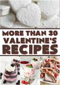 Wondering what to make your sweetie for Valentine's Day? These 30+ Valentine's recipes from your favorite bloggers will give you plenty of ideas!