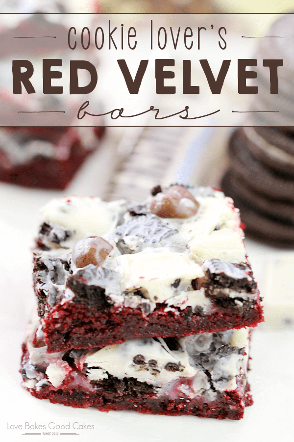Cookie Lover's Red Velvet Bars