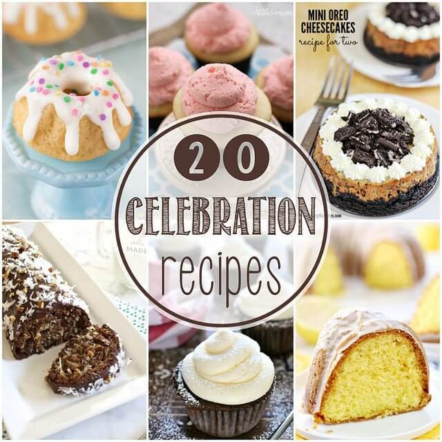 20 Celebration Recipes, Happy 4th Blog Birthday and $500 Cash Giveaway!