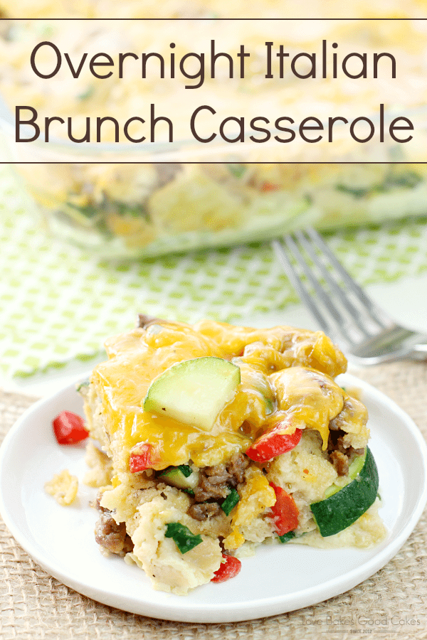Overnight Italian Brunch Casserole