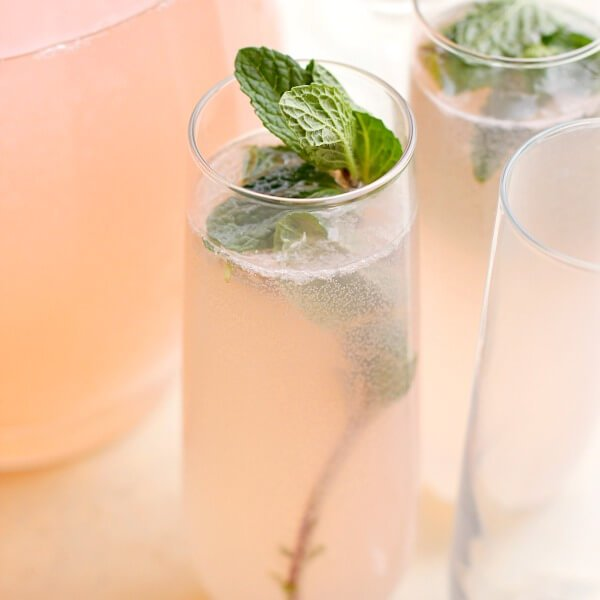 princess punch with mint sprig