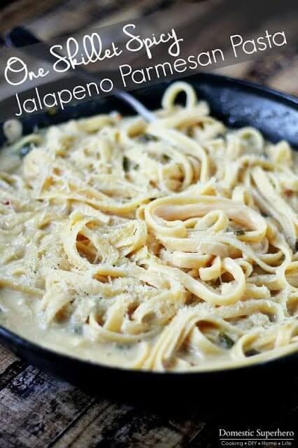 One Pot Jalapeno Parmesan Pasta