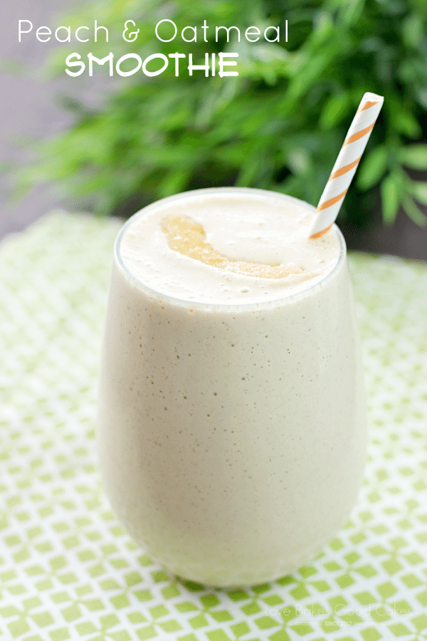 Peach & Oatmeal Smoothie