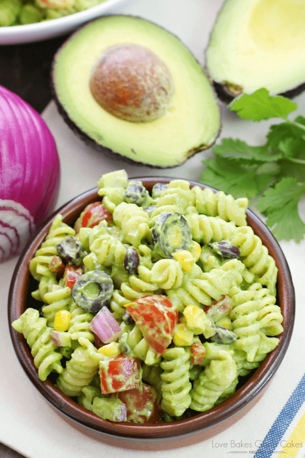 Avocado-Cilantro Pasta Salad