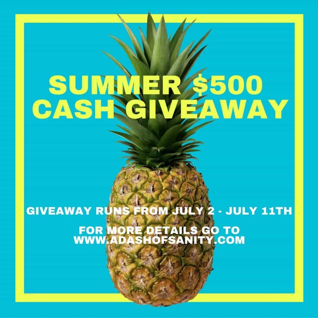 $500 Summer Cash Giveaway & Delicious Summer Recipes