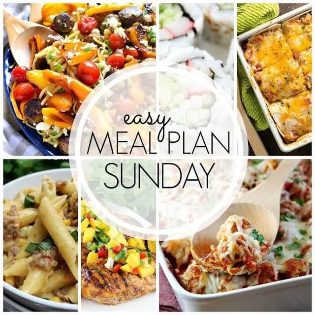 Easy Meal Plan Sunday {Week 55}