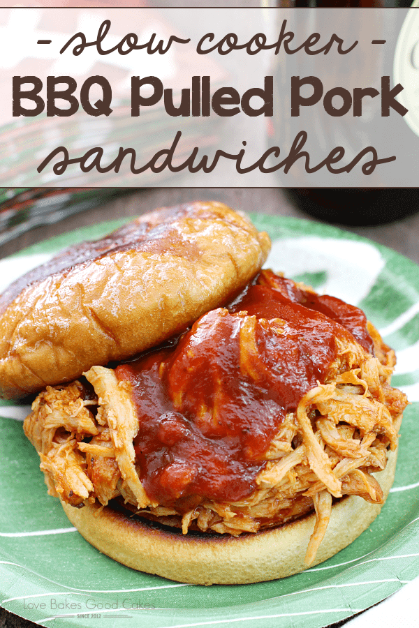 {Slow Cooker} BBQ Pulled Pork Sandwiches