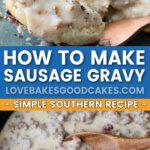 sausage gravy pin collage
