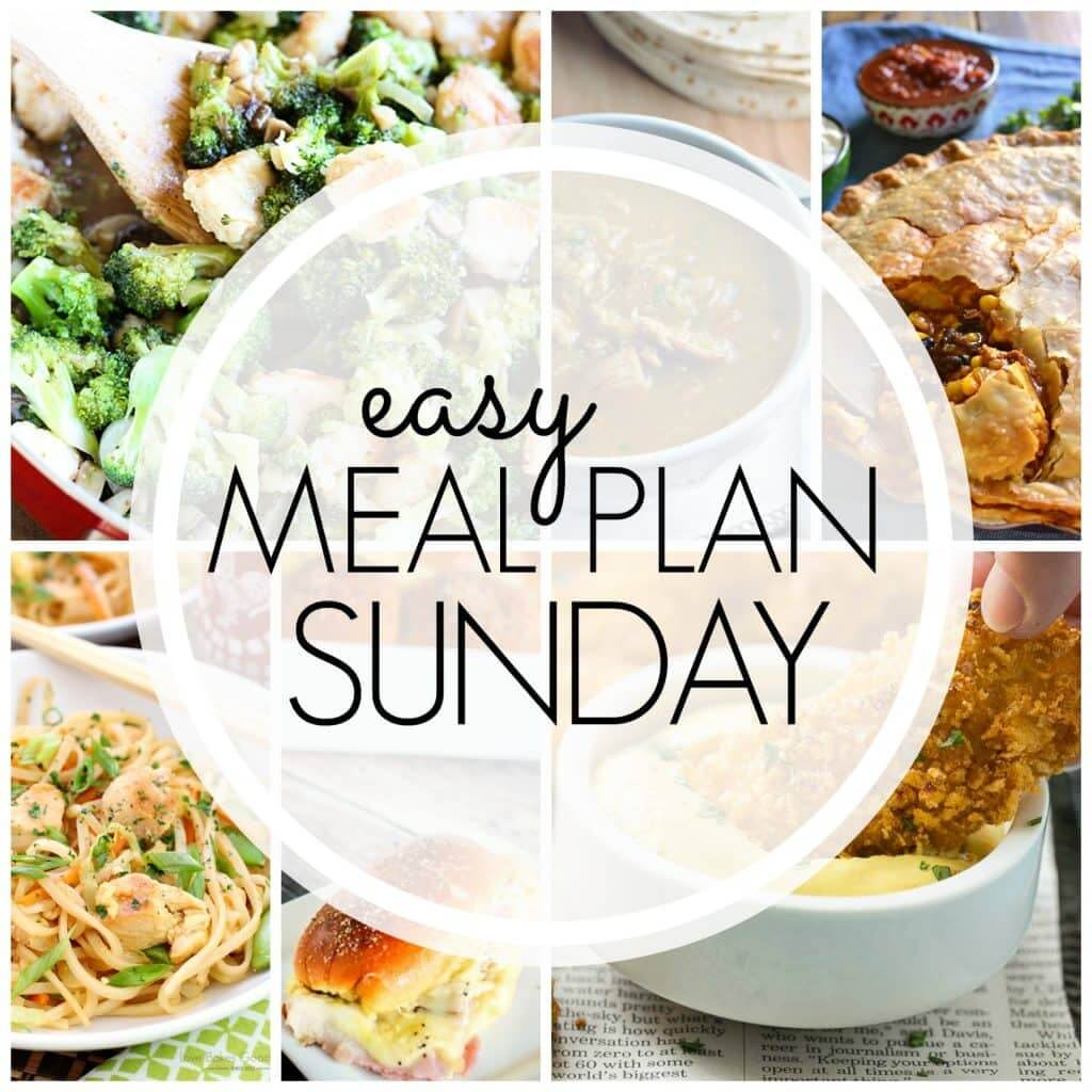 Easy Meal Plan Sunday {Week 71}