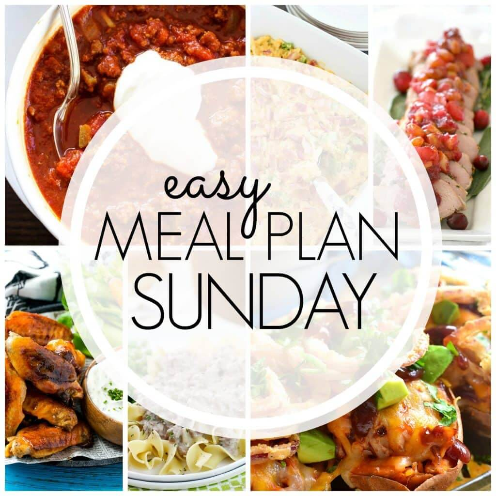 Easy Meal Plan Sunday {Week 78}