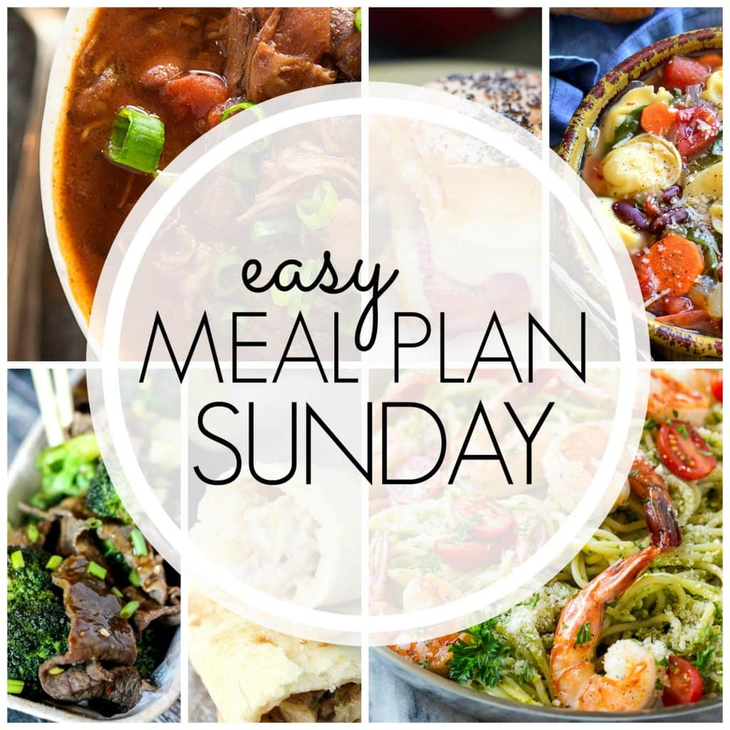 Easy Meal Plan Sunday {Week 77}
