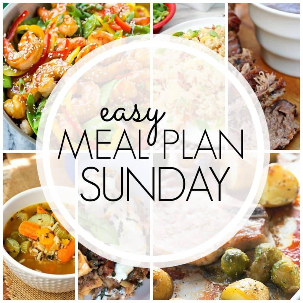 Easy Meal Plan Sunday {Week 76}