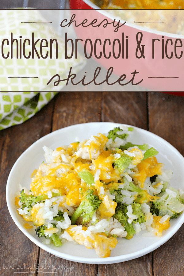 Cheesy Chicken Broccoli & Rice Skillet