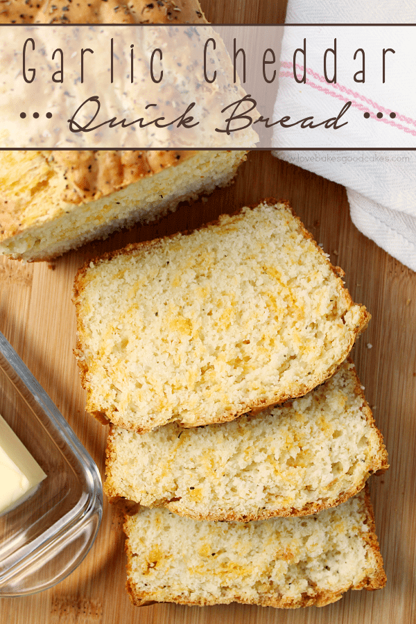 Garlic Cheddar Quick Bread