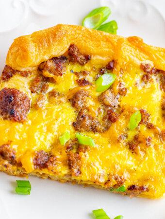 breakfast Pizza on white plate