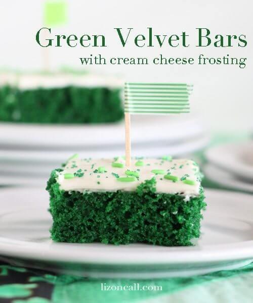 Green Velvet Cake Bars image