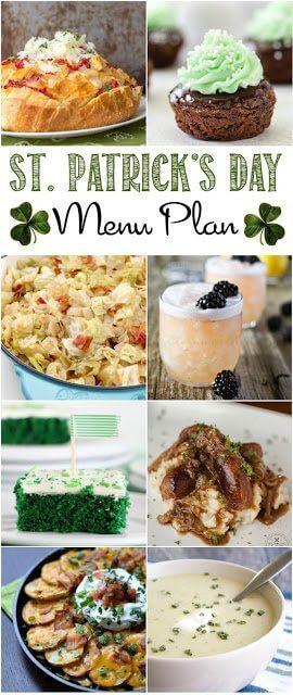 St. Patrick's Day Menu Plan collage image