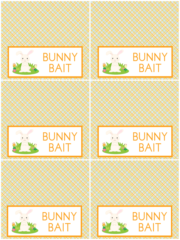 photograph about Bunny Bait Printable called Bunny Bait - Delight in Bakes Wonderful Cakes