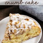 cinnamon roll cake on plate
