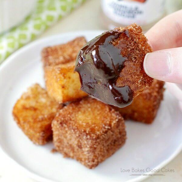 Churros Bites with Chocolate Dipping Sauce