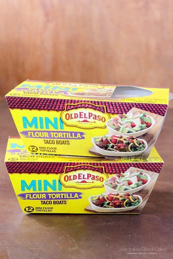 Old El Paso Mini Flour Tortilla Taco Boats