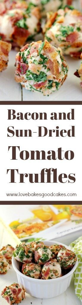 Bacon and Sun-Dried Tomato Truffles long pin