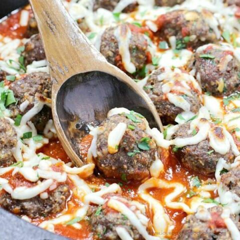 These Italian Herb Baked Meatballs are the most AMAZING meatballs ever! Bursting with an Italian flavor, they will become your family's new favorite!