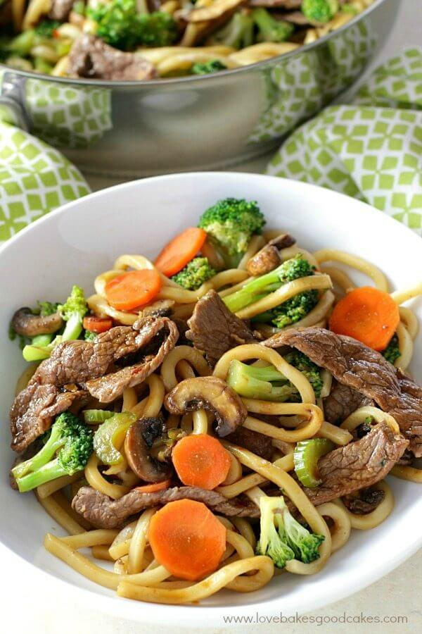 Dinner is delicious AND easy when this Hoisin Beef Noodle Stir Fry recipe is on the menu! Use your favorite veggies for a meal the entire family will love.