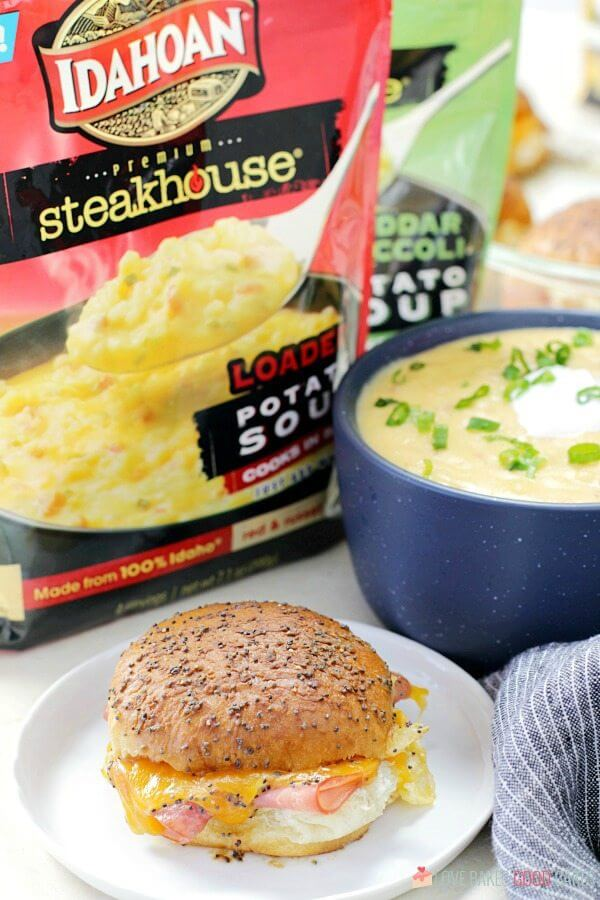 These easy crowd-pleasing Ham and Cheese Sliders are the perfect accompaniment to a bowl of soup - or serve them up on game day - for a winning recipe, everyone will love!