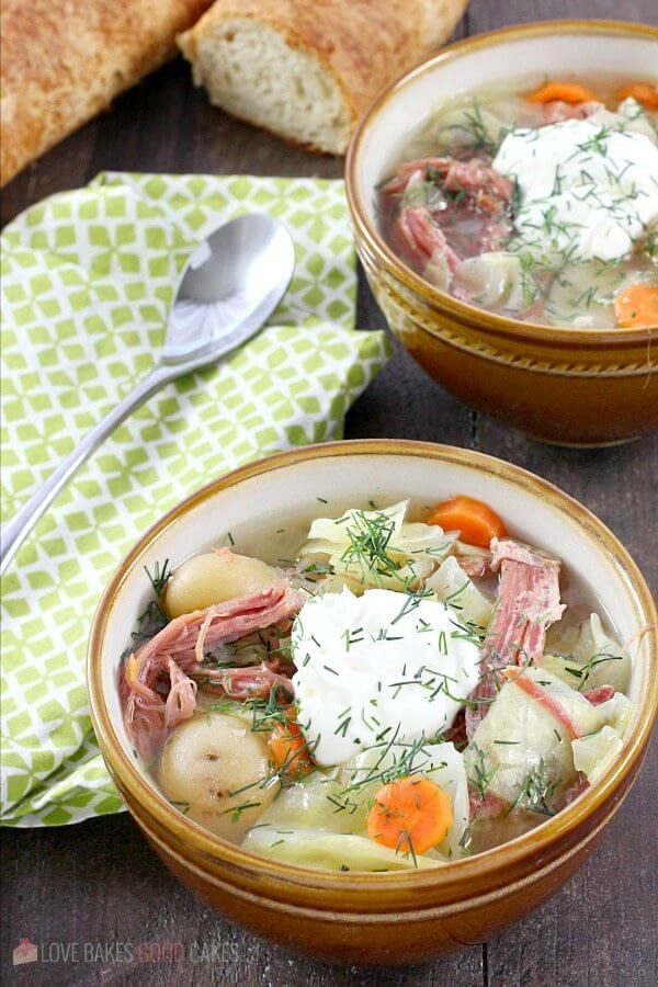Leftover corned beef gets new life in this Corned Beef and Cabbage Soup.