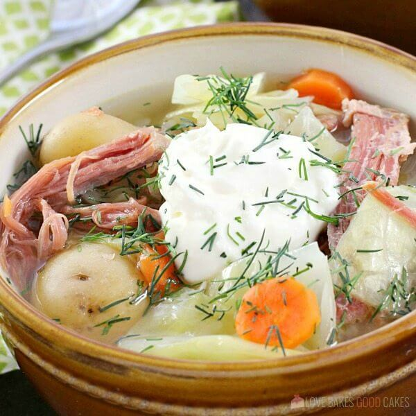 Corned Beef and Cabbage Soup. Corned Beef, cabbage, carrots, and potatoes mix for a new spin on the traditional St. Patricks' Day meal!