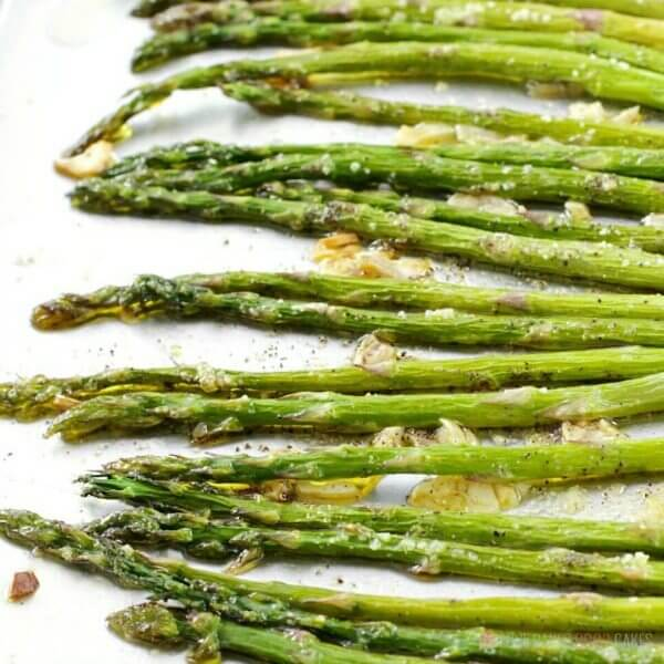 This Oven-Roasted Asparagus makes a quick and easy side dish for any meal. We especially enjoy this recipe in the Spring when asparagus is abundant. You'll be amazed at how a few simple ingredients turn asparagus into an addictively-delicious vegetable dish everyone will love!