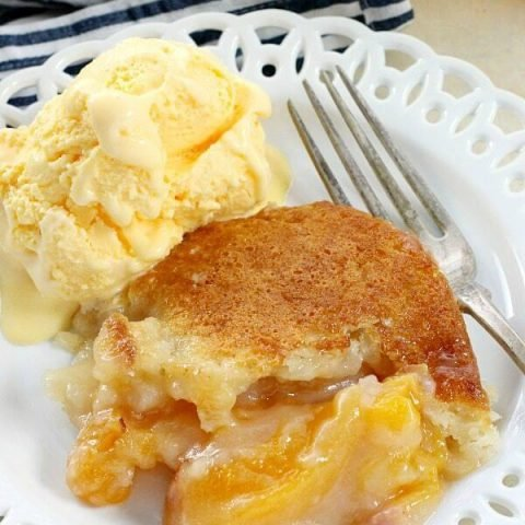 This Easy Southern Peach Cobbler recipe is a must-make dish for your next cookout!
