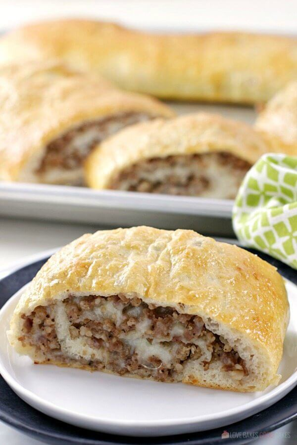 This Sausage Bread might just be the most versatile recipe in your recipe box! It's perfect as an appetizer, a weeknight dinner recipe, serve it on game day, or take it along on picnics or potlucks.