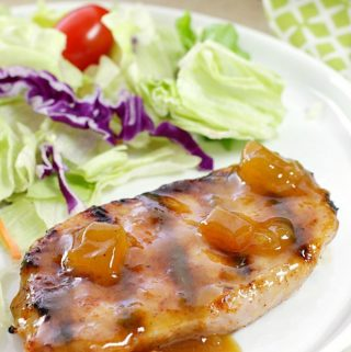 Dinner is easy AND delicious when these Dijon-Peach Pork Chops are on the menu! You only need a handful of ingredients and less than 30 minutes!