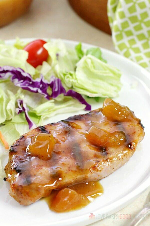 Dijon-Peach Pork Chops
