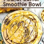Change up your boring breakfast routine with this Chocolate Peanut Butter Smoothie Bowl! Add your favorite toppings for a delicious morning treat!