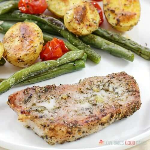 Italian Pork Chop Sheet Pan Dinner