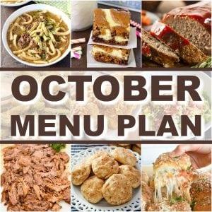 October Menu Plan