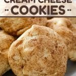 Bake up some soft, pillowy, cinnamon-cream cheese cookie goodness! Add these Snickerdoodle Cream Cheese Cookies to your holiday baking menu!