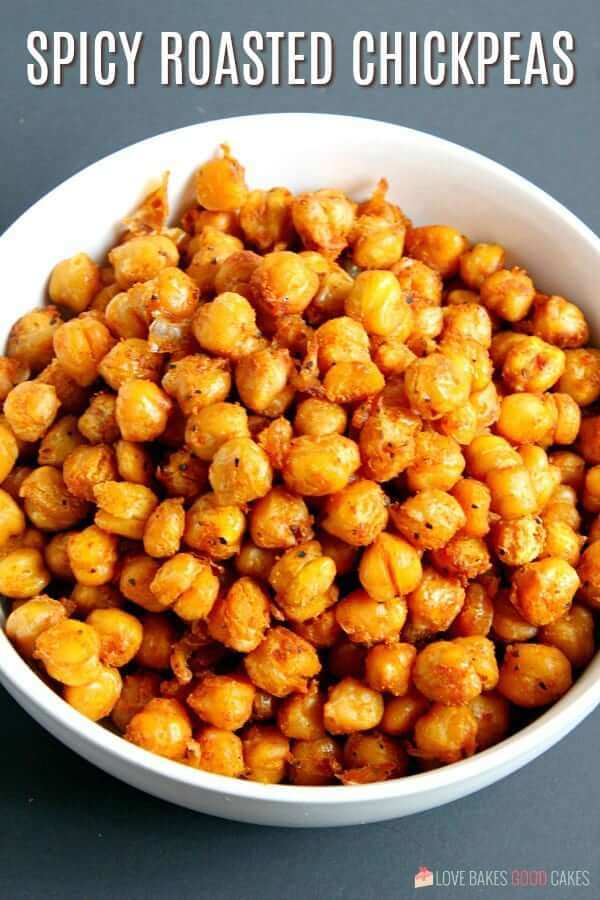 Spicy Roasted Chickpeas in a bowl.