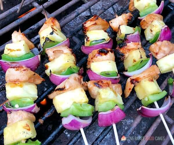 Take your taste buds on a tropical trip with these Hawaiian Chicken Skewers. Marinated chicken combines with bell peppers, onions, and juicy pineapple for a delicious meal idea!