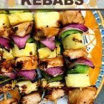 Take your taste buds on a tropical trip with these Hawaiian Chicken Kebabs. Marinated chicken combines with bell peppers, onions, and juicy pineapple for a delicious meal idea!