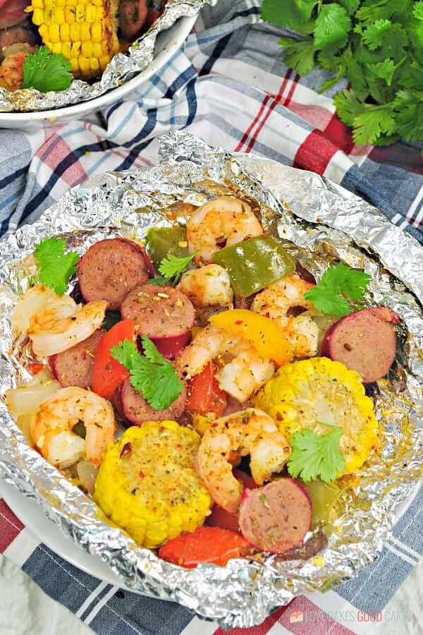Shrimp Boil Foil Packets.