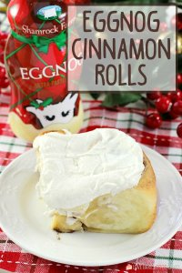 Make Christmas morning memorable with a pan of Eggnog Cinnamon Rolls. A soft, gooey eggnog-infused cinnamon roll topped with an amazing eggnog glaze.