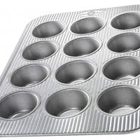 Cupcake and Muffin Pan, 12 Well, Nonstick & Quick Release Coating, Made in the USA from Aluminized Steel