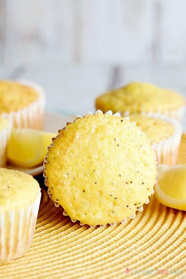 Lemon Poppy Seed Muffins close up.