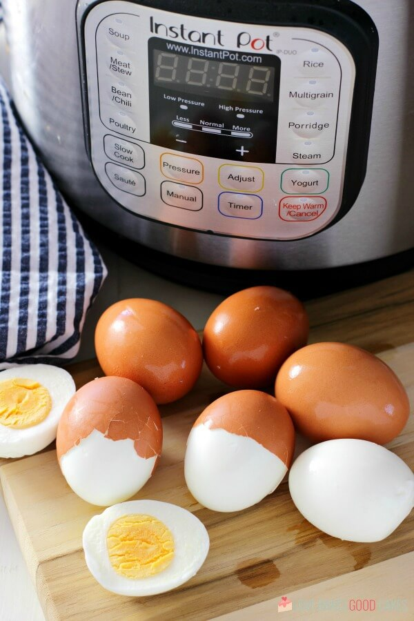perfect hard-boiled eggs cooked in an Instant Pot