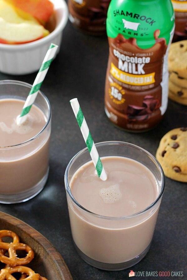 Shamrock Farms milk in a glass